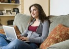 Girl on Couch with Laptop